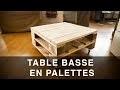 """Table basse en palettes """"industrielle"""""""