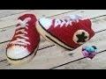 Converse chaussures bébé crochet 1/2 / Converse all stars baby shoes crochet (english subtitles)