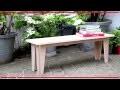 Fabriquer son banc de jardin, Mon projet bricolage