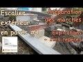 Construire un escalier extérieur de jardin en pavé - #4 - Préparation des marches - Explication 1