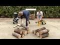 Fendre du bois rapidement: Fendeur de bûche horizontal rapide 7T FARTOOLS