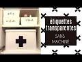 [ ORGANISATION MAISON ] Comment faire des ETIQUETTES (DIY personnalisable, facile et pas cher)