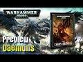 """Preview Découverte du Codex Chaos Daemons 'Démons du chaos"""" 2018 V8 en Francais VF"""