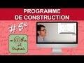 EXERCICE : Rédiger un programme de construction - Cinquième