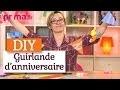 Une guirlande en papier - DIY anniversaire
