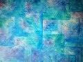 Rectangles Transparents sur Fond Bleu - Peinture Acrylique Abstraite