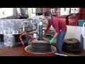 Fabrication de l'huile d'olive à l'ancienne