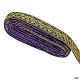 1 main cour Craft robe indienne Garniture d'or en dentelle Saree traditionnelle Border Lace Couture Garniture LIVRAISON GRATUITE
