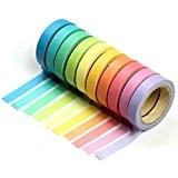 10 Bandes Washi, Rouleaux de Papier Colorés, Décoration, Bricolage, Cadeaux by CASCACAVELLE