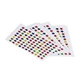10 Feuilles Autocollant en Forme Etoile Papier Collant Coloré Stickers pour Décoration Multicolore