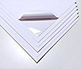 10Feuilles Blanc étanche A4Vinyle mat adhésif autocollant de qualité Laser imprimable