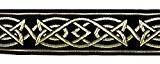 10m celtique galon webband 35mm couleur?: noir/or présentée par La 1A de mercerie MG05-swgo 35
