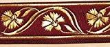 10m celtique galon webband 35mm de large Couleur?: Bordeaux/Doré présentée par La 1A de mercerie 35070de Bogo