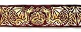 10m celtique galon webband 35mm de large Couleur?: Bordeaux/Or de 1a de mercerie 35027de Bogo