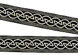 10m Nœud Celtique loin webband galon 33mm couleur?: noir/or de 1a de mercerie 35034de swgo