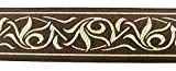 10m Renaissance Fleur galon webband 35mm de large Couleur?: Marron/Or de 1a de mercerie 35001de brgo