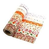 10 rouleaux Washi Tape Masking tape- Ruban Adhésif Papier Décoratif DIY klebriger Scrapbooking Papier autocollant décoratif ruban ...