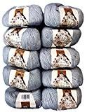 10x 50g ALIZE coton avec Mohair et paillettes à tricoter et crochet, couleur gris n ° 21, 500g laine de ...