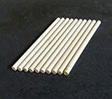10x chevilles en bois, Craft bâtons de 8mm d'épaisseur, 10cm, 15cm, 30cm de long, 10 cm