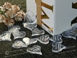 100 Coeurs - 25 mm-Transparent-personnalisés, cadeaux, décorations de Table de mariage