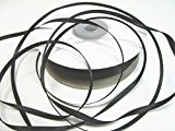 100 m satin ruban 3 mm de large: Noir