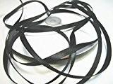 100 m satin ruban 6 mm de large: Noir