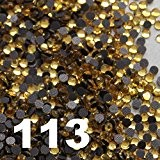 1000 Strass thermocollant Rhinestone Hotfix [Ø2mm s06] GOLD LIGHT N° 113