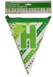 14m multi-patterned Happy St. Patrick's Day papier guirlande drapeaux