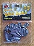 """15 x argent métallisé Grand 9"""" Pouce Fête Mariage ballons d'hélium qualité"""