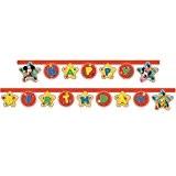 2.2m Disney Mickey Mouse bannière d'anniversaire Inscription Happy Birthday