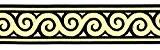 20m Moyen-âge galon webband 35mm couleur?: noir/or de 1a de mercerie 35061de swgo