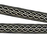 20m Nœud Celtique loin webband galon 22mm de large Couleur?: Noir/Or de 1a de mercerie 22034de swgo