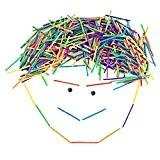 200 pcs Allumette Colorées en Bois Bricolage pour Enfants DIY Jeu Intelligence Educatif - Multicouleur