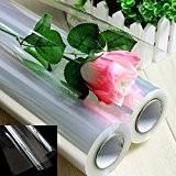 20m - Plain Clear Cellophane Florist Film Wrap Rolls 50cm - Flowers, Hampers & Gifts by Clear/Plain Cellophane