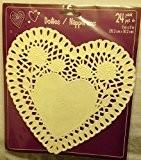 24Découpe Blanc napperons en papier en forme de cœur