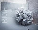 24 feuilles de papier de soie Gris Clair, 50x75cm, 18 grs