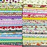 25pcs 30cm x 30cm Tissu de coton Craft carrés patchwork Peluches DIY Couture Scrapbooking à pois Artcraft, Multicoloured