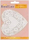 """4-napperons en papier """"coeur blanc 24/Pkg"""