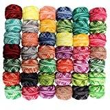 42 Bobines de Fil de Coton à Multicolores pour Crochet par CurtzyTM- 3990 Mètres- Tricot et Dentelle