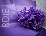 48 feuilles de papier de soie Violet, 50x75cm, 18 grs