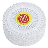 480 pcs Épingles Droites Pins Épingles à Tête Ronde pour Couture Décoration de Mariage Artisanat DIY - Blanc