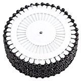 480 pcs Épingles Droites Pins Épingles à Tête Ronde pour Couture Décoration de Mariage Artisanat DIY - Noir