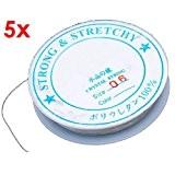 5 Rouleau Bobine Cordon Fil élastique 0.6mm Transparent