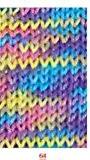 """'50g """"Capri Print-Couleur?: 64-Jaune/Mauve/Rose-Le Universa lbaumwoll fil avec longueur classique."""