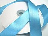 50 m satin ruban 25 mm de large: Bleu turquoise foncé