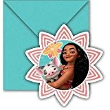 6 cartes dinvitation + enveloppes Vaiana