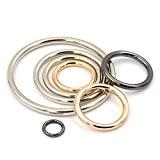 6pcs/lot solide en métal soudé O Bague Boucle parfaite pour sacs à main Sacs Bretelles de sac à dos, Silver, ...