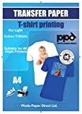 A4 Inkjet (Jet d'encre) Papiers transferts application avec un fer à repasser / Transferts pour T shirt - T Shirt ...