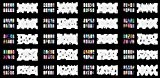 ABEST Réutilisables Airbrush Nail Art pochoir 260 DESIGNS - modèle 20 feuilles Kit Set 5