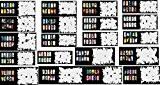 ABESTAIR 400 modèles de pochoirs réutilisables Airbrush Nail Art - modèle 20 feuilles Kit Set 10